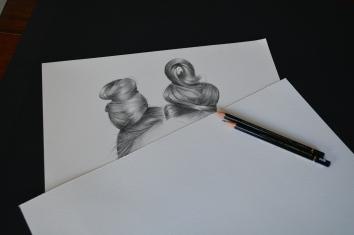 Graphite pencil fashion illustration Capricorn Star sign work in progress