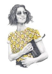 Fashion illustration of Caroline Issa
