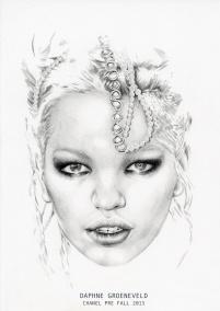 Fashion illustration of Daphne Groenveld for Chanel Pre Fall 2015