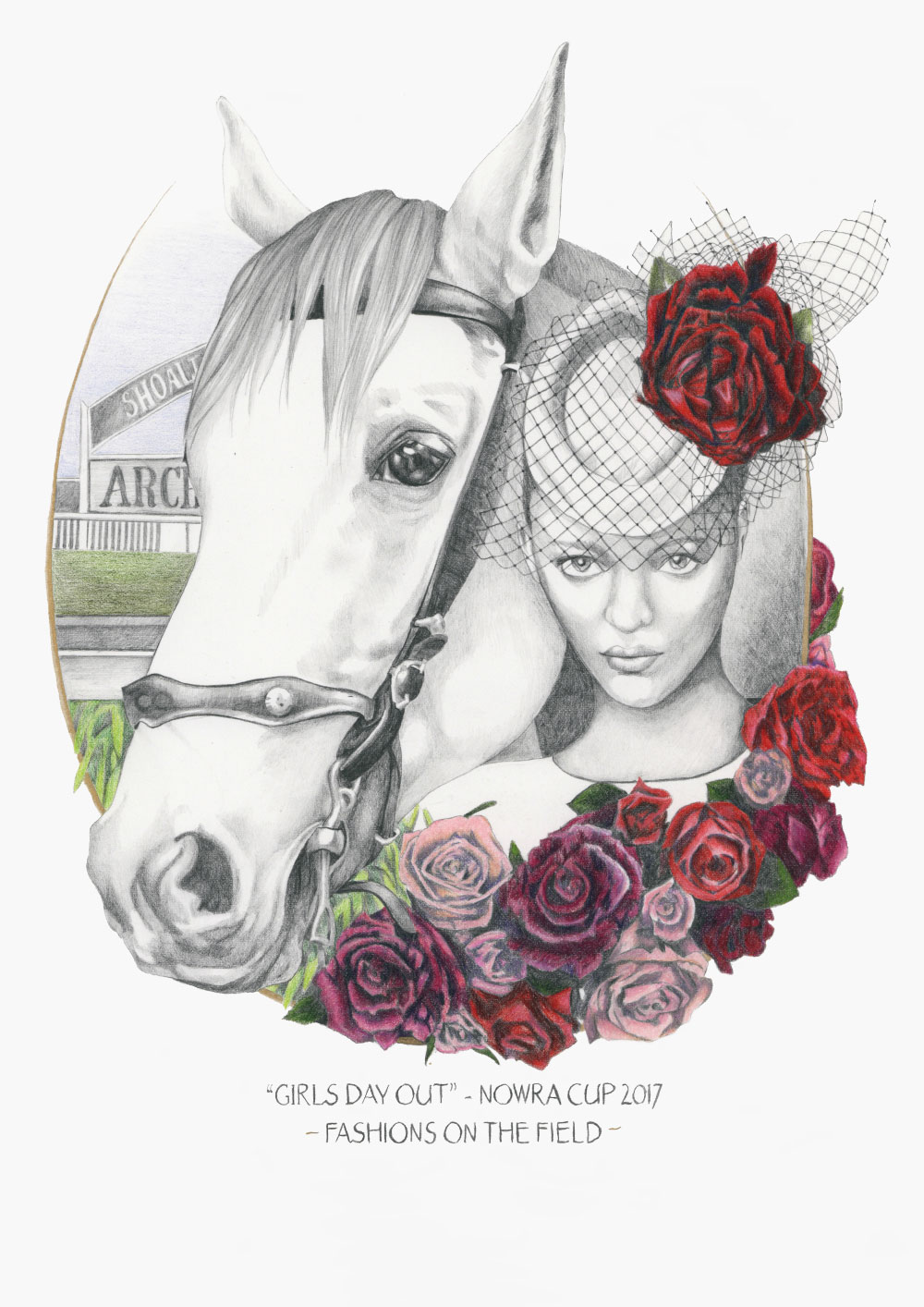 Fashion illustration of fashions on the field Nowra Cup 2017