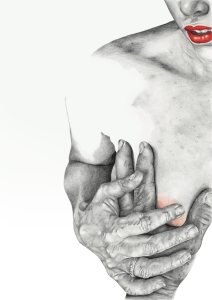 """""""Touch"""" - graphite pencil illustration by Alison Sargent"""