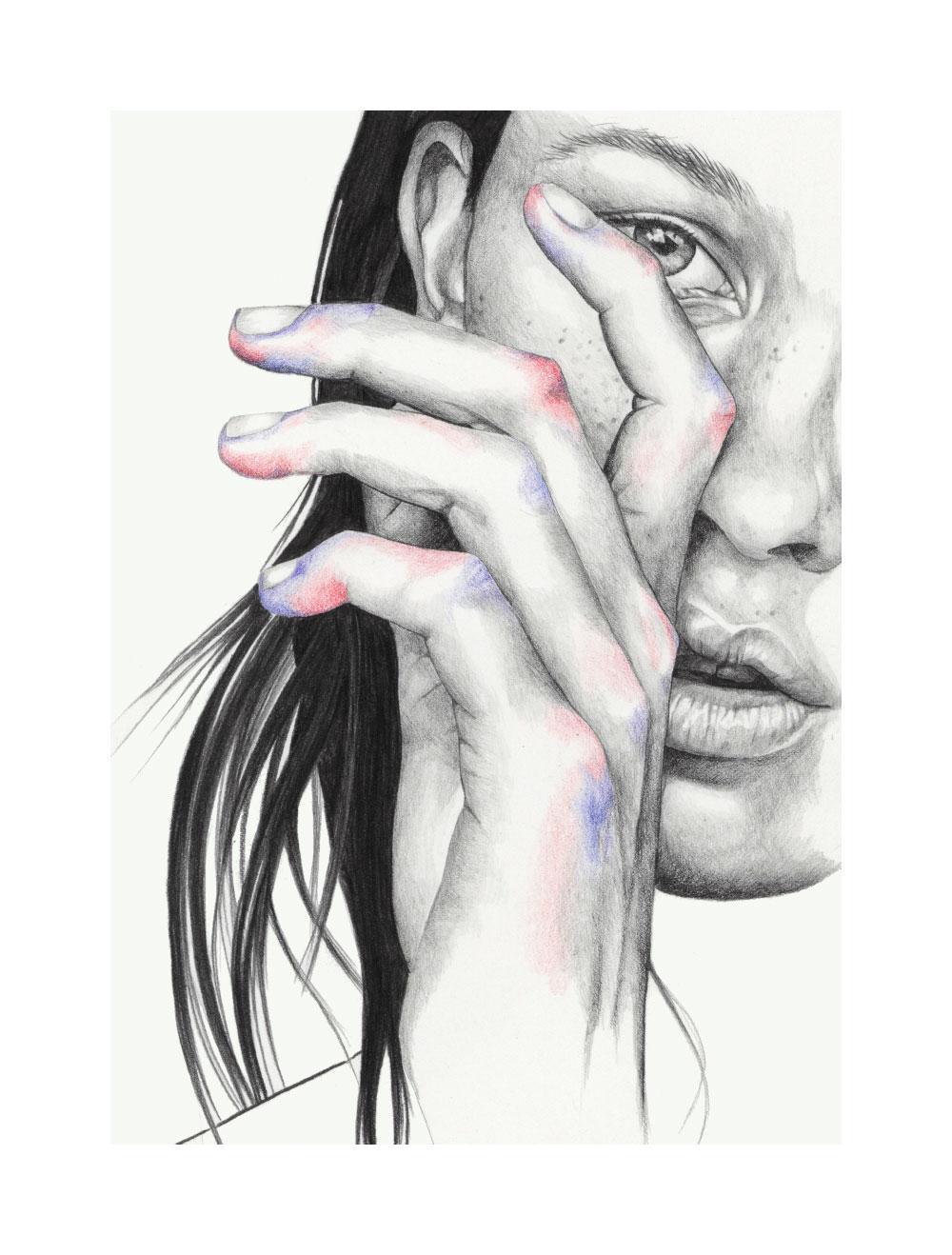 Graphite and pencil illustration