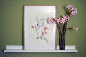 """""""Emmi"""" - Colour and graphite pencil drawing (framed)"""