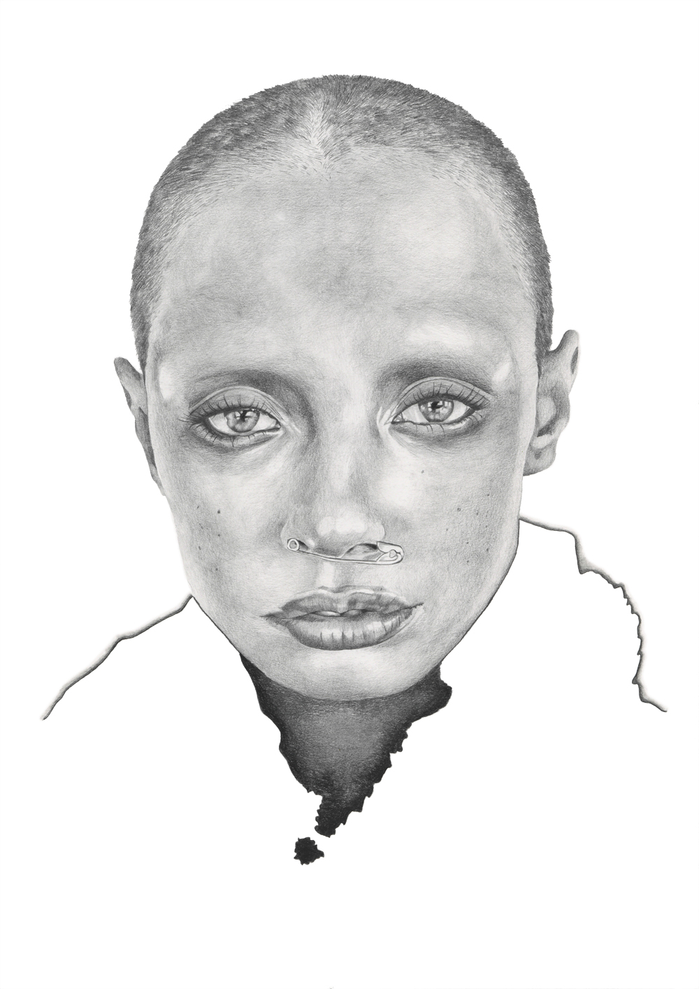 Graphite pencil portrait illustration by Alison Sargent