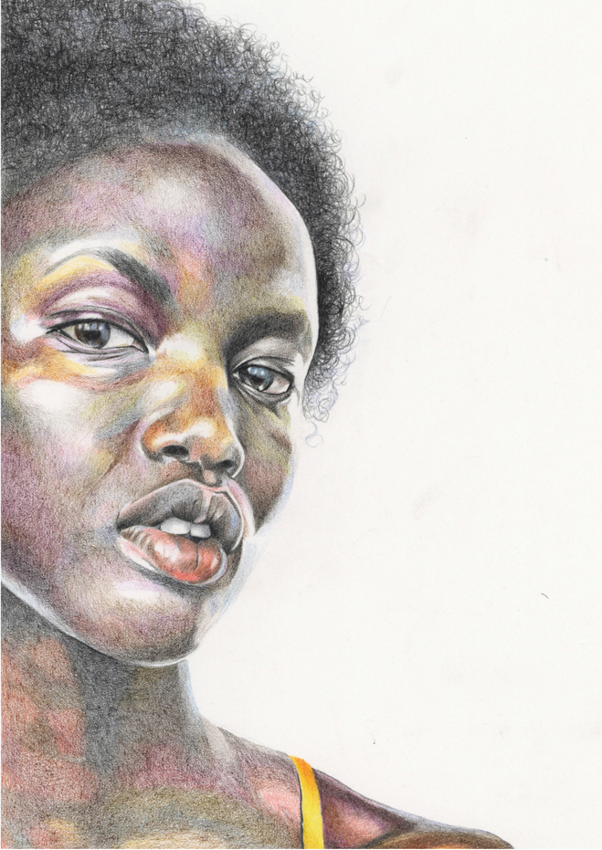 Colour Pencil illustration of Anok Yai