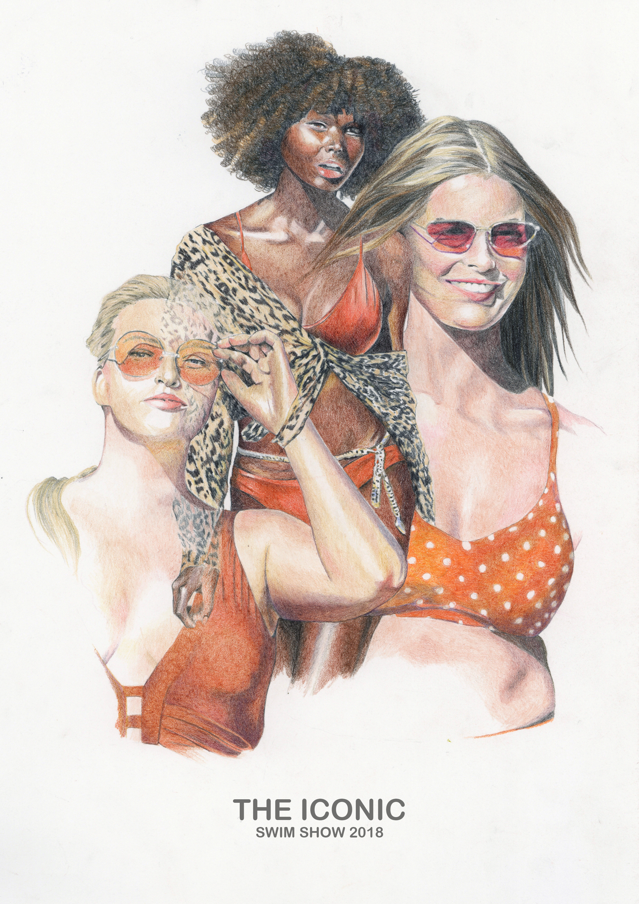 Colour Pencil illustration of looks from