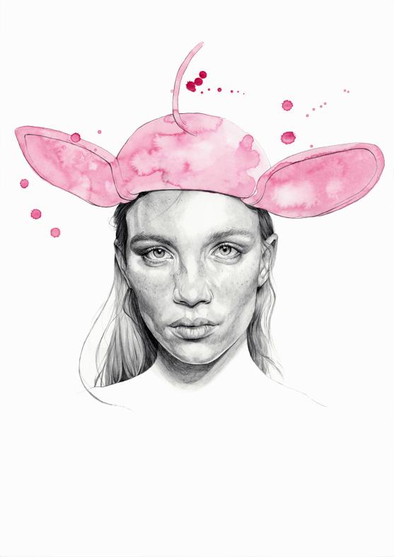 """Rebecca Longendyke"" - graphite pencil and watercolour by Alison Sargent"
