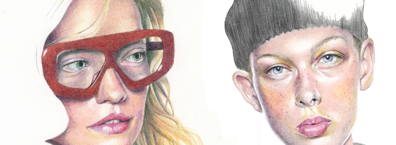 Feature image - colour pencil fashion illustrations by Alison Sargent