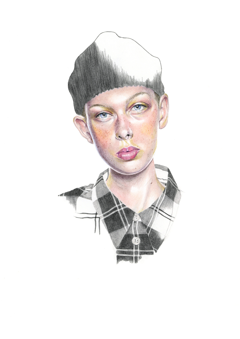 """Margaret Howell - Spring 2020"" colour pencil fashion illustration by Alison Sargent"